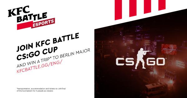 KFC Rusia organizează primul turneu de Counter-Strike: Global Offensive pentru amatorii de eSports din Europa Centrală şi de Est, parte a proiectului KFC BATTLE