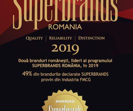 Două branduri românești, lideri ai programului Superbrands România, în 2019