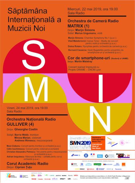 afis Saptamana Internationala a Muzicii Noi 2019