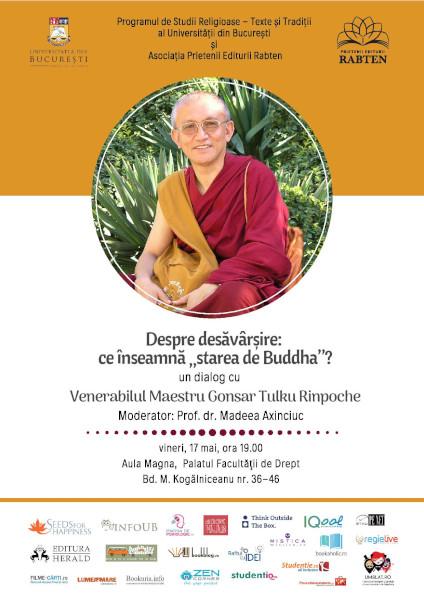 Venerabilul Maestru Gonsar Tulku Rinpoche la Universitatea din Bucureşti
