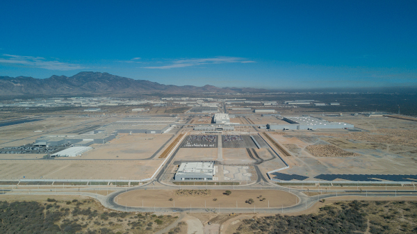 Aerial view of BMW Group Plant San Luis Potosi, Mexico