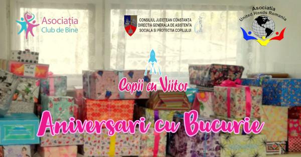 Aniversări cu bucurie – cadouri pentru copiii fără familie alături, în programul Copii cu Viitor