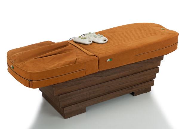 CASA JAD, pat de masaj cu pietre de jad cu tapiserie Alcantara