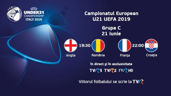 Azi, în direct la TVR: Anglia-România, la Campionatul European de Fotbal U21