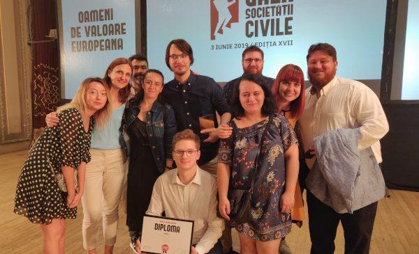 Aplicația digitală redirectioneaza.ro prin care peste 1.100 de ONGuri au o nouă sursă de venit din 2018 premiată cu locul 1 la Gala Societății Civile