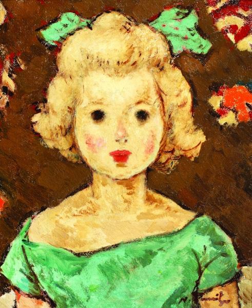 Copil cu fundă verde 1924-1925, Nicolae Tonitza
