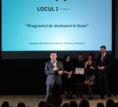 Asociația Română de Dezbateri, Oratorie și Retorică (ARDOR) câștigă, în cadrul Galei Societății Civile, Premiul I la 3 categorii diferite