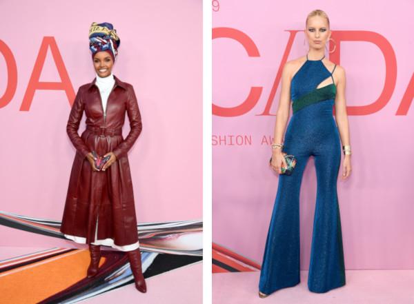 Halima Aden si Karolina Kurkova au purtat Tommy Hilfiger la CFDA Fashion Awards 2019