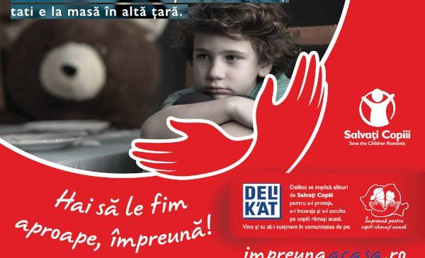 """""""Împreună Acasă"""", o campanie Delikat şi Salvaţi Copiii pentru susţinerea copiilor rămaşi singuri acasă"""