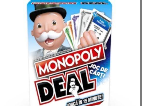 Monopoly Deal, cel mai rapid joc al tranzacțiilor imobiliare se lansează în România