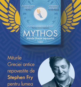 Stephen Fry, celebrul actor britanic, într-un rol inedit: de autor al celor mai amuzante legende grecești repovestite în cartea Mythos, la Editura Trei