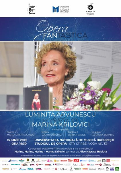 LUMINIȚA ARVUNESCU ÎN DIALOG CU marea soprană MARINA KRILOVICI
