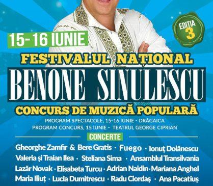 """Cea de-a treia ediție a Festivalului Național Concurs de Muzică Populară """"Benone Sinulescu"""" are loc pe 15 și 16 iunie, la Buzău"""
