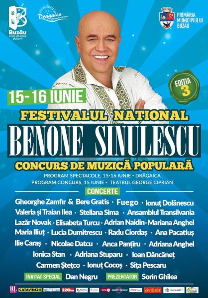 poster Festivalul National Concurs de Muzica Populara Benone Sinulescu editia 3