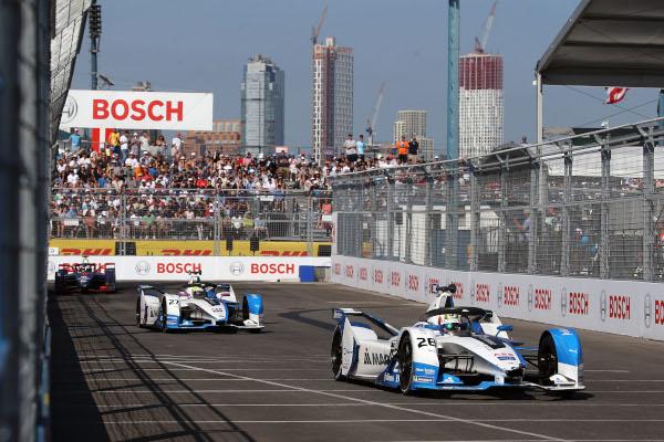 ABB FIA Formula E Championship, New York E-Prix, BMW i Andretti Motorsport, Antonio Felix da Costa (POR) BMW iFE and Alexander Sims (GBR) BMW iFE