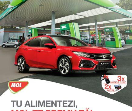 MOL România sărbătorește vara cu premii și promoții atractive pentru clienți: 3 autourisme Honda Civic își așteaptă câștigătorii