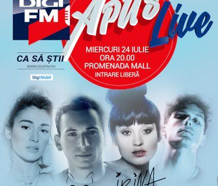 Digi FM APUS LIVE cu Irina Rimes, The Motans, Alina Eremia și Mark Stam