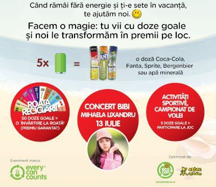 Campania de colectare a dozelor din aluminiu, ExtravaCANza, aduce distracţie şi premii pe litoralul românesc