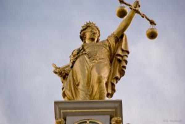 Golden Lady Justice Bruges Belgium