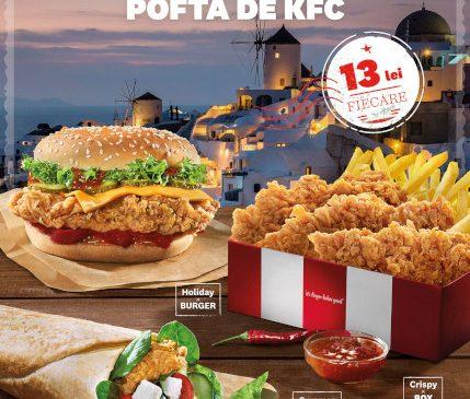 KFC România oferă un plus de varietate consumatorilor şi introduce în meniu o serie de reţete noi, de sezon