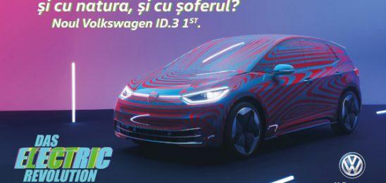 FCB Bucharest a câștigat pitch-ul pentru comunicarea ID.3, primul autovehicul fully electric de la Volkswagen