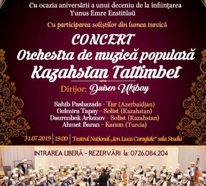 Concert aniversar, la București, cu orchestra de muzică Kazahstan Tattimbet