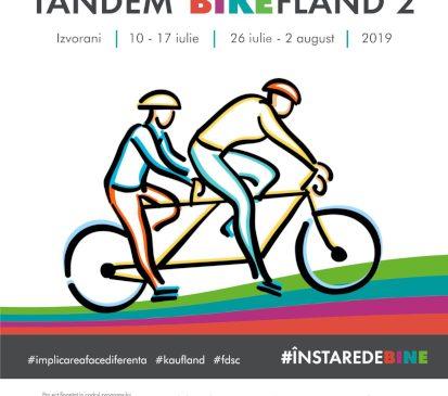 Copiii nevăzători învață să meargă pe bicicleta în tandem între 26 iulie–2 august