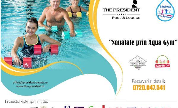 The President continuă programul educațional de combatere a sedentarismului Sănătate prin Aqua Gym – ediția a 2-a
