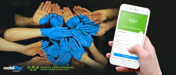 donatii cu mobilPay Wallet pentru HOSPICE Casa Sperantei