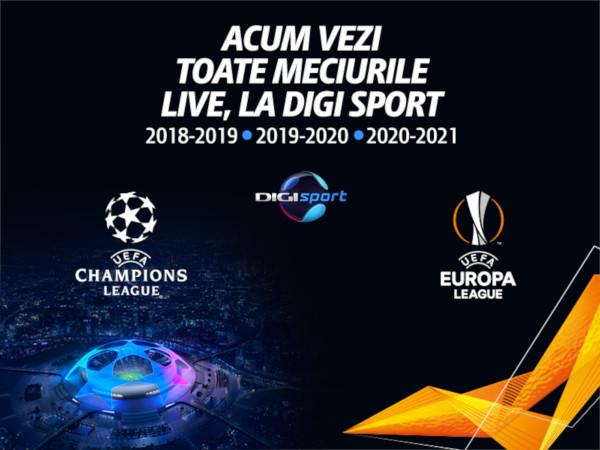Digi Sport, UEFA Champions League, Europa League