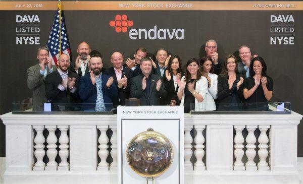 Endava la 1 an de la listarea pe bursa din New York: 2.07 miliarde de dolari capitalizare și o creștere de 91.5% a prețului pe acțiune