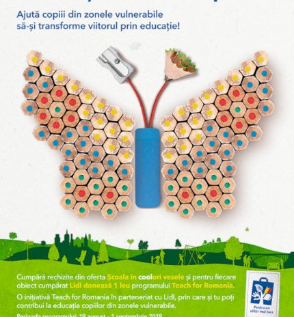 Pentru al treilea an consecutiv, Lidl sprijină împreună cu clienții săi programul național Teach for Romania, oferind acces la educație pentru peste 3000 de copii din medii vulnerabile