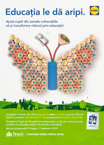 Lidl sustine programul national Teach for Romania