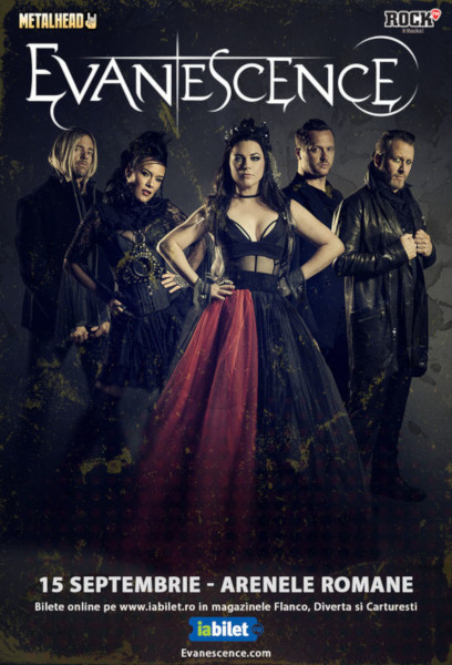 afis Evanescence 15 septembrie