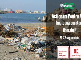 Kaufland România și Act for Tomorrow încep programul de curățare de deșeuri a litoralului Mării Negre și a apelor din țară