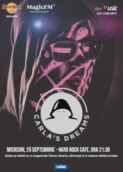 Concert Carlas Dreams, Hard Rock Cafe, 25 Septembrie