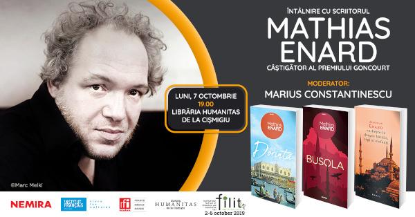 Mathias Enard la Bucuresti