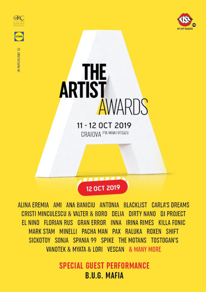 The Artist Awards 11-12 octombrie 2019
