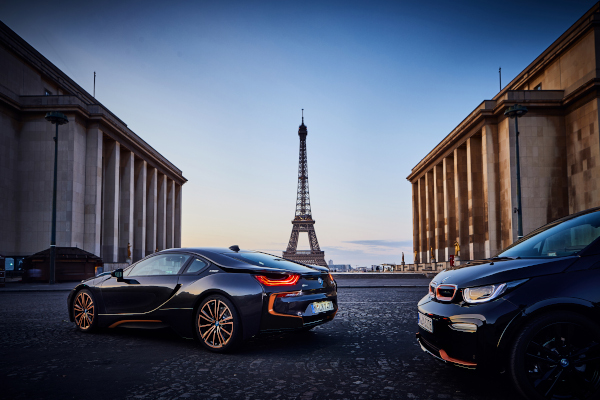 The BMW i3s Edition RoadStyle and the BMW i8 Coupe in the Ultimate Sophisto Edition