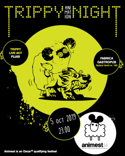 Trippy Animation Night poster