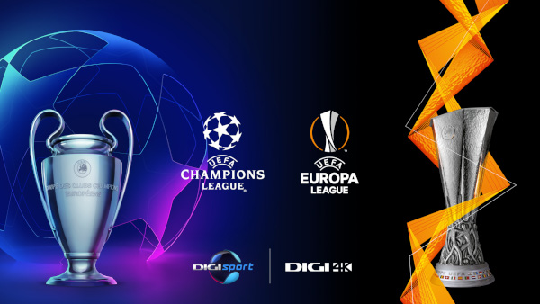 Spectacolul UEFA Champions League și UEFA Europa League revine în direct, la Digi Sport