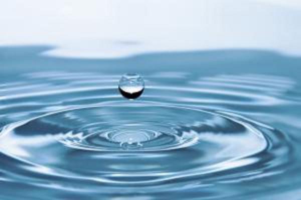 clean drop of water liquid