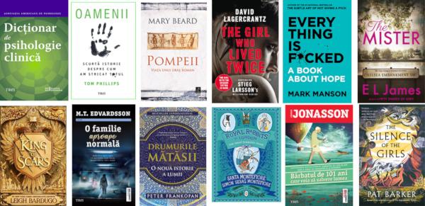 Titluri mult așteptate, autori îndrăgiți și serii spectaculoase