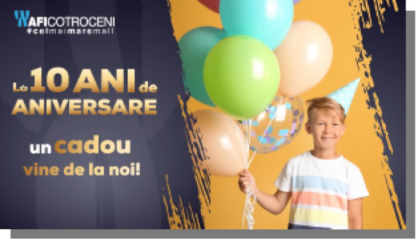 La 10 ani de aniversare, AFI Cotroceni îi provoacă pe cei mici la distracție