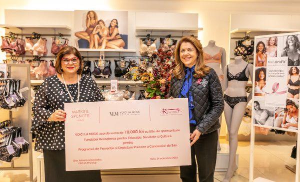 Marks & Spencer susține campania de prevenire a cancerului de sân printr-un parteneriat cu Fundația Renașterea