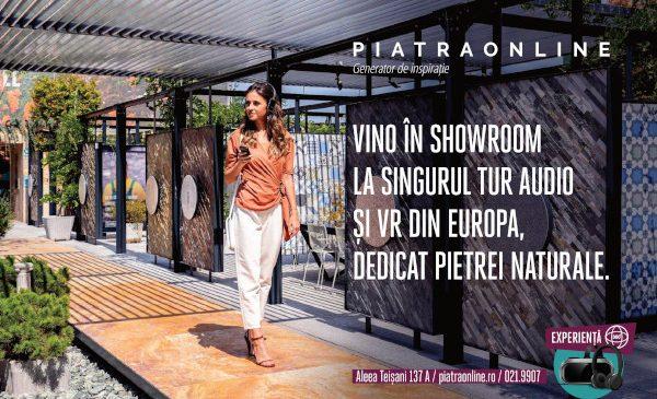 Premieră pe piața de piatră naturală la nivel internațional: PIATRAONLINE lansează primul tur audio și realitate virtuală pentru vizitatorii showroom-ului