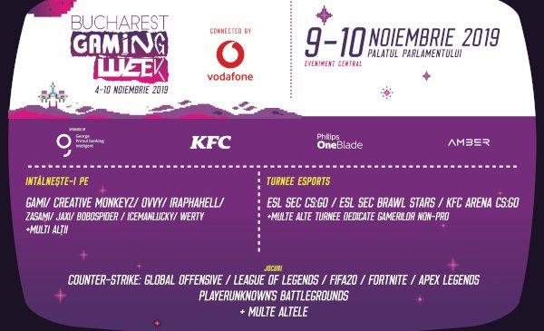 Vodafone România este partenerul de comunicații al Bucharest Gaming Week