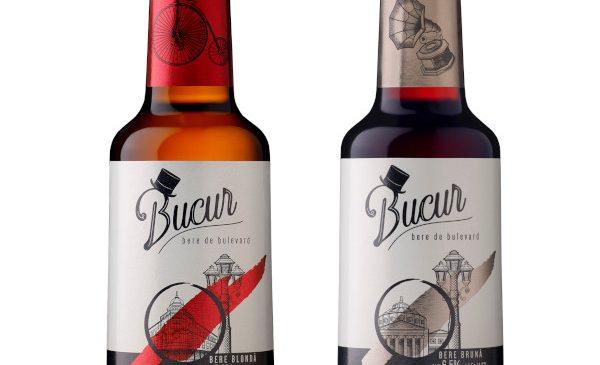 URBB lansează Bucur – bere de bulevard la sticlă, în variantele blondă și brună