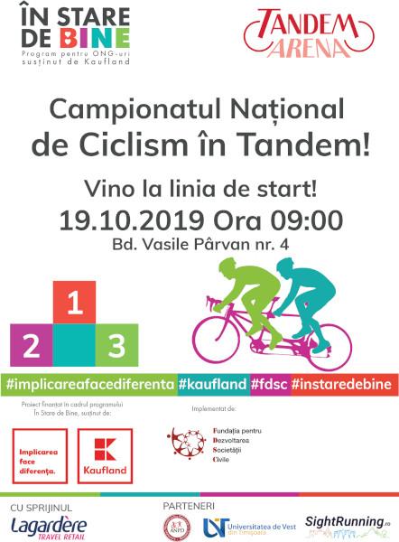 Campionatul National de Ciclism in Tandem Timisoara