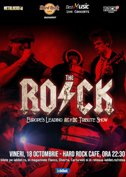 Concert Tribut AcDc cu The Rock 18 octombrie